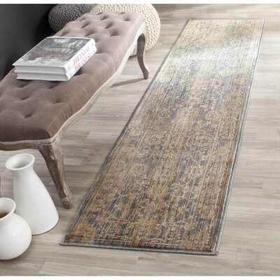 Infinity Oriental Brown/Grey Area Rug Rug Size: Runner 2 x 8