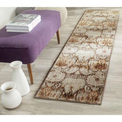 Infinity Oriental Brown/Beige Area Rug Rug Size: Runner 2 x 8
