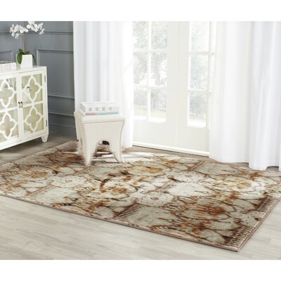 Infinity Oriental Brown/Beige Area Rug Rug Size: Rectangle 9 x 12