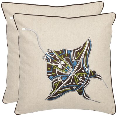 Ocean Stingray Throw Pillow