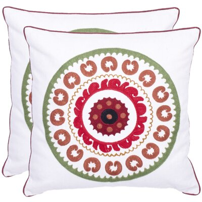 Cotton Throw Pillow Color: Jasmine Red