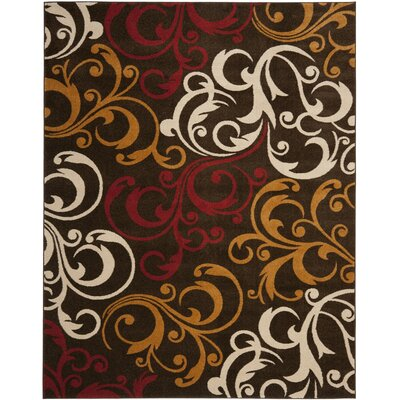 Newport Brown/Gold Area Rug Rug Size: 51 x 76