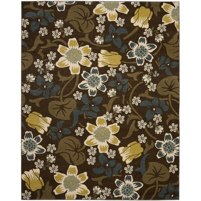 Newport Brown/Mustard Area Rug Rug Size: Rectangle 8 x 10