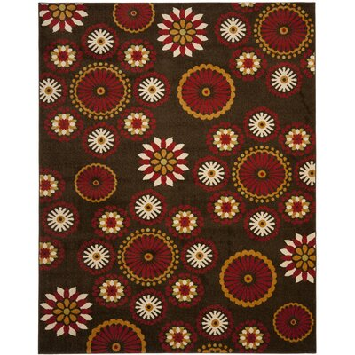 Newport Brown/Red Area Rug Rug Size: 8 x 10