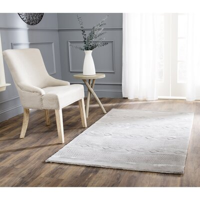 Soho Light Grey Area Rug Rug Size: 96 x 136
