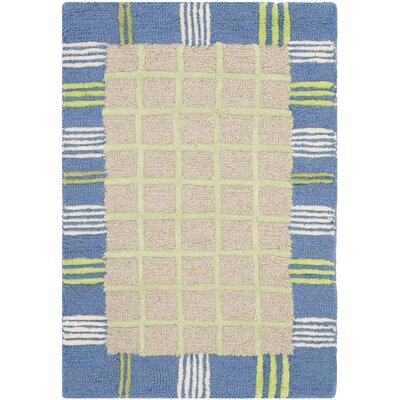 Kids Taupe & Blue Area Rug