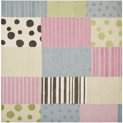 Claro Blue/Pink Area Rug Rug Size: Square 7