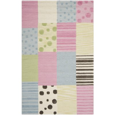 Claro Blue/Pink Area Rug Rug Size: Rectangle 5 x 8