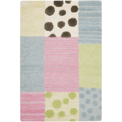 Claro Blue/Pink Area Rug Rug Size: 2 x 3
