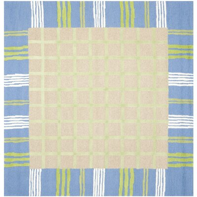 Claro Taupe & Blue Area Rug Rug Size: Square 7