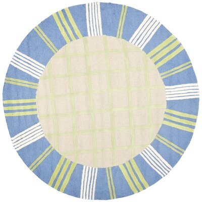 Claro Taupe & Blue Area Rug Rug Size: Rectangle 5 x 8