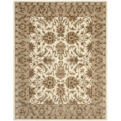 Royalty Ivory/Dark Beige Rug Rug Size: Rectangle 67 x 98