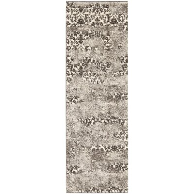 Retro Beige/Light Grey Rug Rug Size: Runner 23 x 11