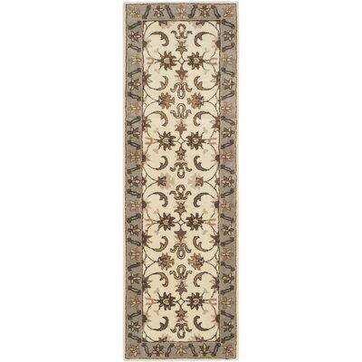 Royalty Ivory/Dark Beige Rug Rug Size: Runner 23 x 7