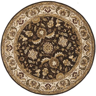 Royalty Chocolate/Beige Rug Rug Size: Round 7