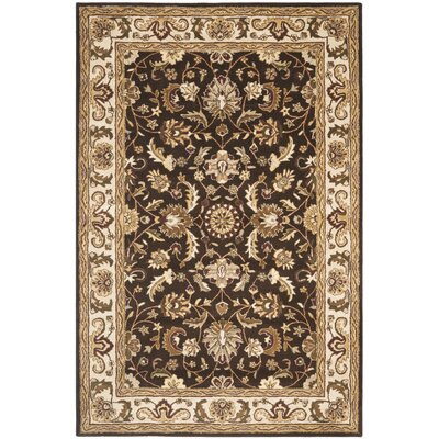 Royalty Chocolate/Beige Rug Rug Size: Rectangle 4 x 6