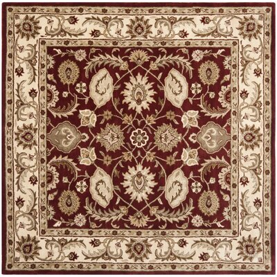 Royalty Red/Ivory Rug Rug Size: Square 7