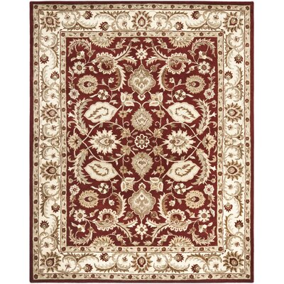 Royalty Red/Ivory Rug Rug Size: 8 x 10