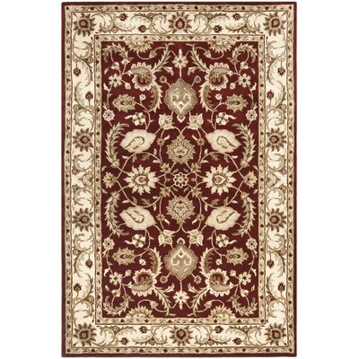 Royalty Red/Ivory Rug Rug Size: Rectangle 4 x 6