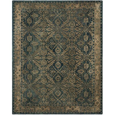 Anatolia Navy/Ivory Area Rug Rug Size: Rectangle 4 x 6