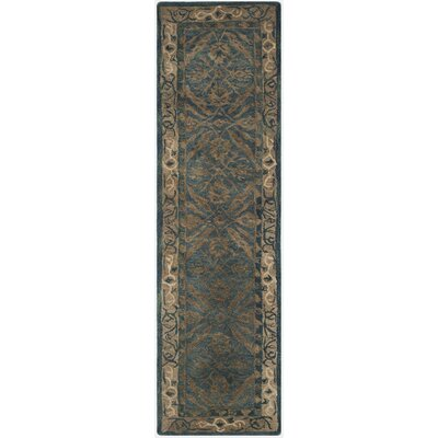 Anatolia Navy/Ivory Area Rug Rug Size: Runner 23 x 8