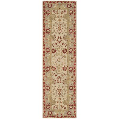 Anatolia Ivory/Red Area Rug Rug Size: Runner 23 x 8