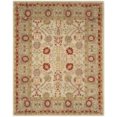 Anatolia Ivory/Red Area Rug Rug Size: Rectangle 4 x 6