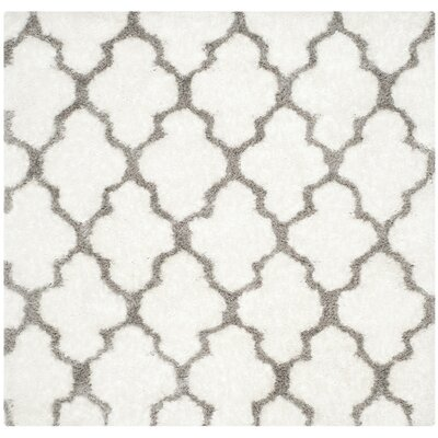 Lizabeta Ivory/Silver Area Rug Rug Size: Square 5