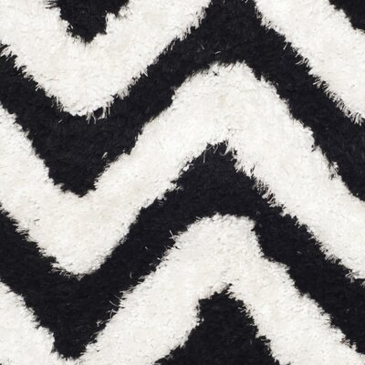 Barcelona White/Black Area Rug Rug Size: 3 x 5