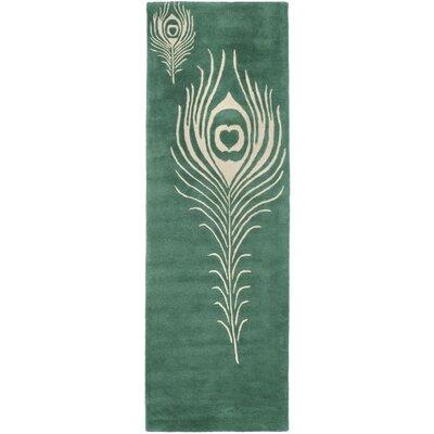 Safavieh Soho Teal / Ivory Contemporary Rug - Rug Size: Runner 2'3
