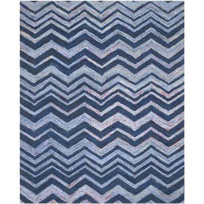 Anaheim Hand-Woven Cotton Blue Area Rug Rug Size: Rectangle 9 x 12