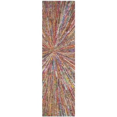 Nantucket Firework Area Rug Rug Size: Runner 2'3