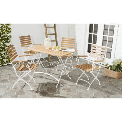 Lawndale 5 Piece Dining Set Finish: Teak Brown