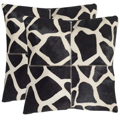 Antonio Cow Hide Suede Throw Pillow Size: 22 H x 22 W x 2.5 D
