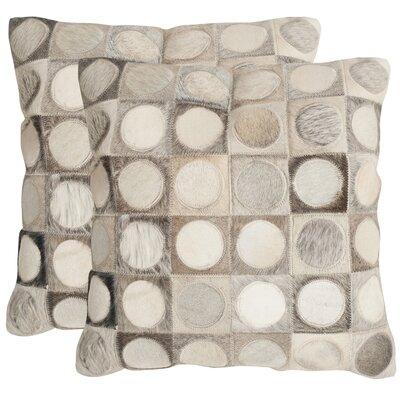Brigittecowhide SuedeThrow Pillow Size: 22 H x 22 W x 2.5 D