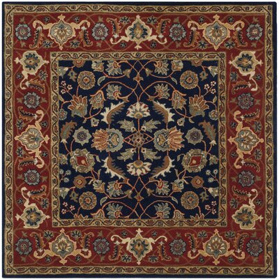 Royalty Navy/Rust Area Rug Rug Size: Square 7