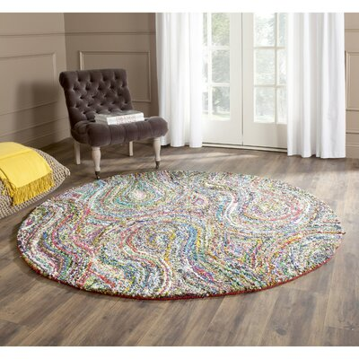 Anaheim Abstract Area Rug Rug Size: Round 6