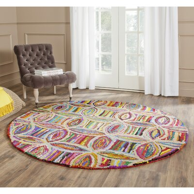 Harbin Hand Tufted Area Rug Rug Size: Round 4