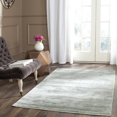 Mirage Blue Area Rug Rug Size: Rectangle 4 x 6