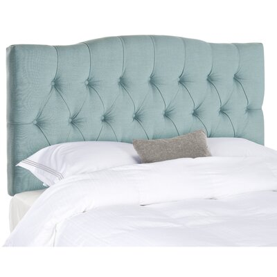 Axel King Upholstered Panel Headboard Upholstery: Teal