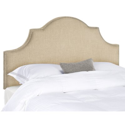 Hallmar King Upholstered Panel Headboard Finish: Silver