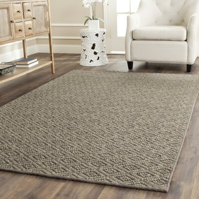 Diamond Wool Natural Area Rug Rug Size: Rectangle 8 x 11