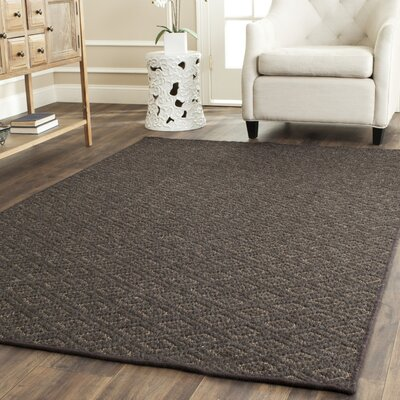 Diamond Wool Brown Area Rug Rug Size: Rectangle 4' x 6'