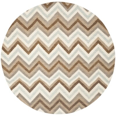 Dhurries Multi Area Rug Rug Size: Round 6