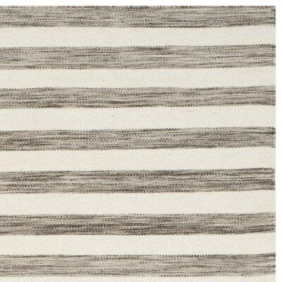 Dhurries Brown / Ivory Area Rug Rug Size: Runner 26 x 10