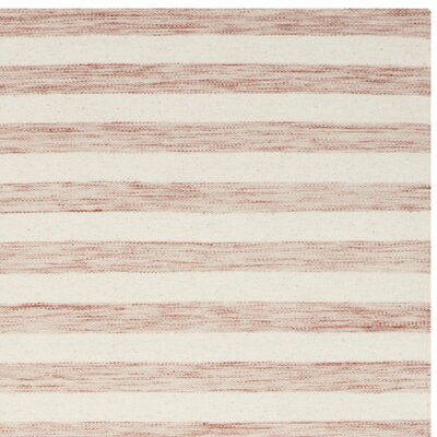 Dhurries Rust / Ivory Area Rug Rug Size: Runner 26 x 10
