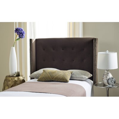 Keegan Upholstered�Headboard Size: Full, Color: Silver