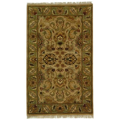 Dynasty Beige/Sage Area Rug Rug Size: Rectangle 5 x 8
