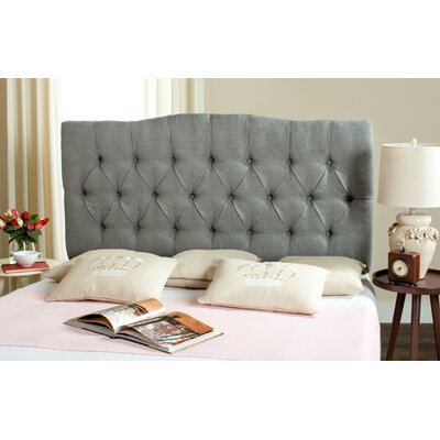 Axel King Upholstered Panel Headboard Upholstery: Pewter