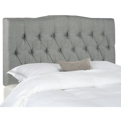 Axel King Upholstered Panel Headboard Upholstery: Grey